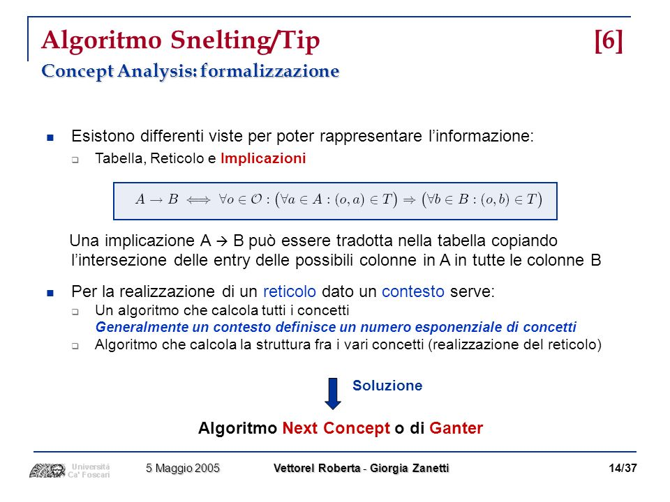 Algoritmo Snelting/Tip [6]
